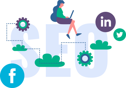 SEO LinkedIn Facebook Advisor Marketing